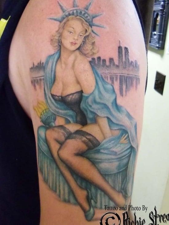 statue of liberty tattoo (17)