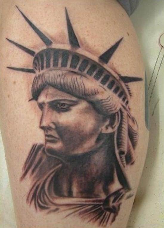 statue of liberty tattoo (18)