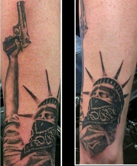 statue of liberty tattoo (3)