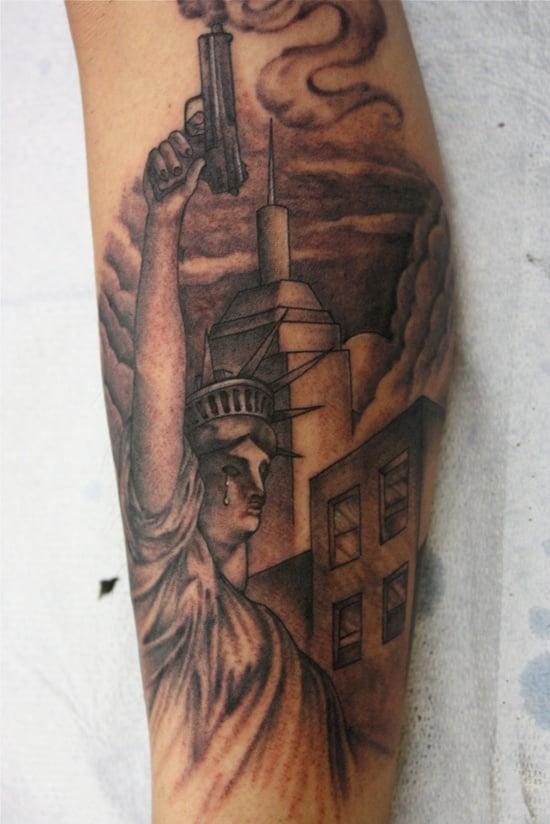 statue of liberty tattoo (8)