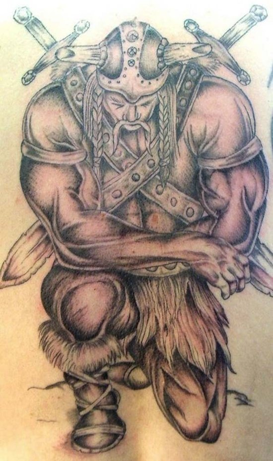 25 amazing warrior tattoos. Black Bedroom Furniture Sets. Home Design Ideas