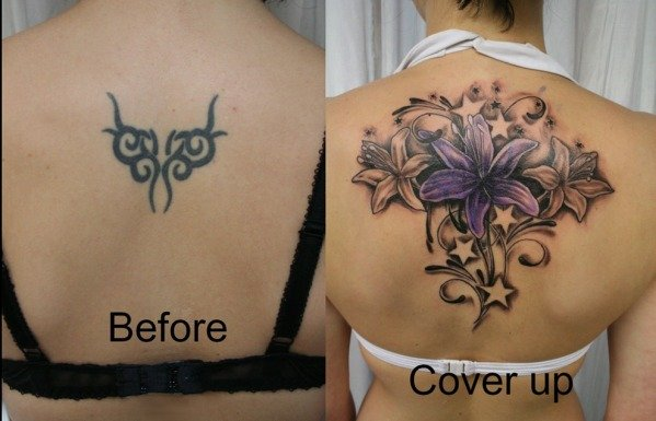 The best tattoo cover ups of the worst tattoos for Brown tattoo ink cover up