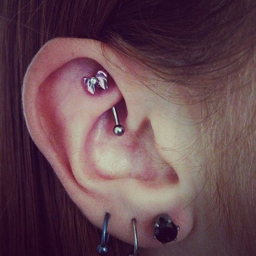 30 Interesting Rook Piercing Designs For 2013