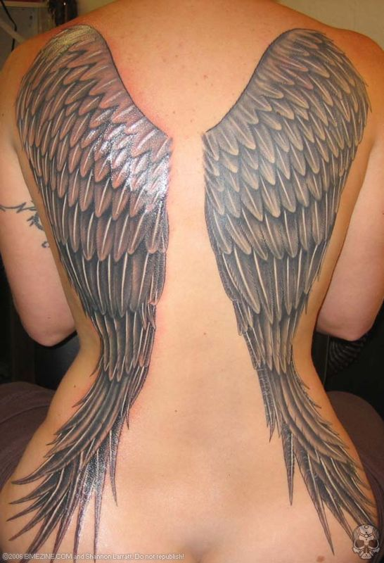 Angel Wing Tattoos designs-for-Girls