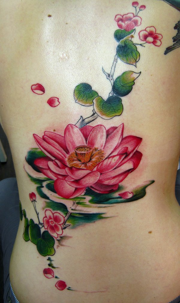 Lotus Flower Tattoo On Foot