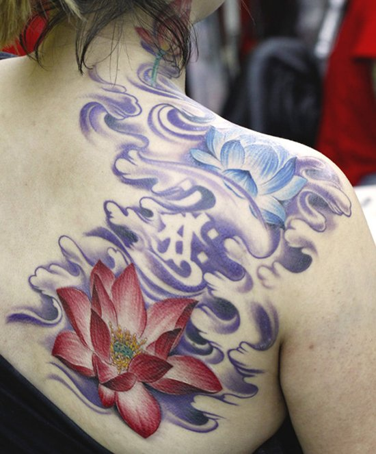 amazing Lotus Tattoo