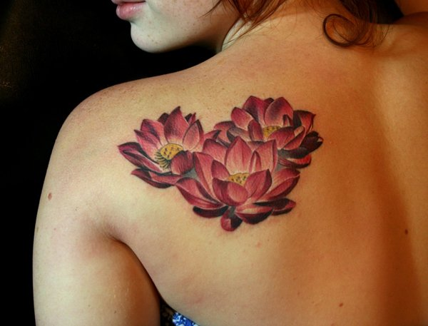 41 enticing lotus flower tattoos. Black Bedroom Furniture Sets. Home Design Ideas