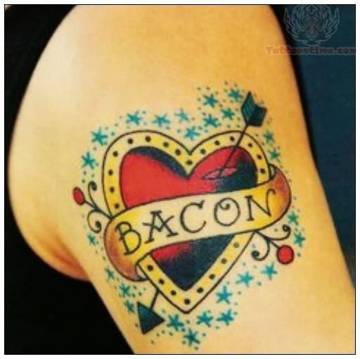 bacon-old-school-tattoo-for-shoulder