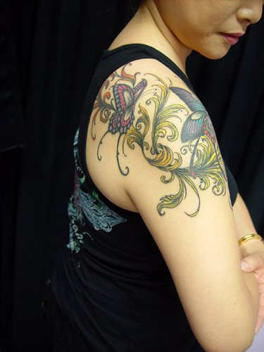 butterflies-tattoo-on-shoulder