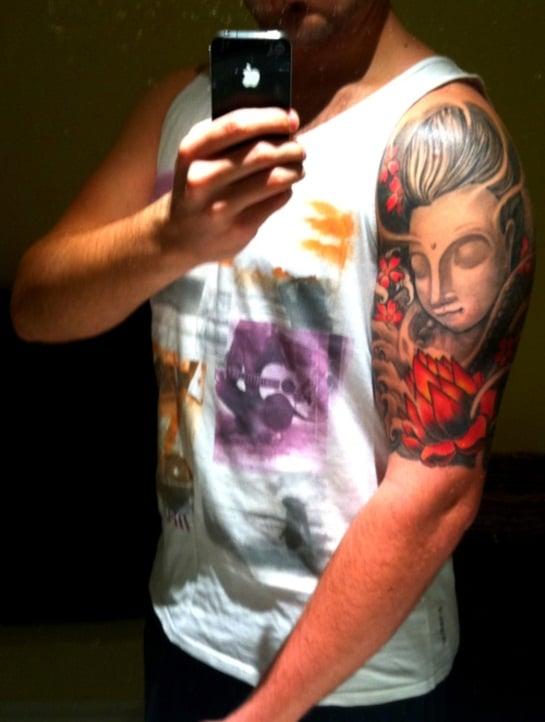 Buddha-Tattoo-Half-Sleeve