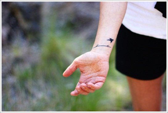 bird wrist tattoo 4