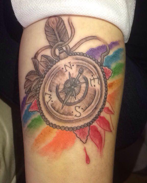 55230916-compass-tattoos