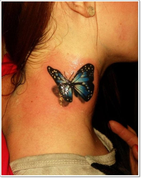 3D Butterly-on-top-shoulder