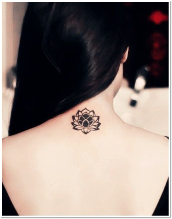 Simple Lotus Flower Tattoo