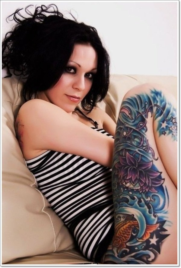 amazing lotus flower tattoo design
