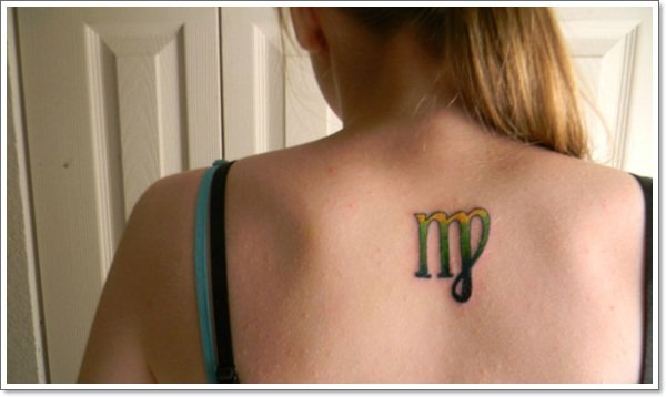 colorful-virgo-tattoo on back