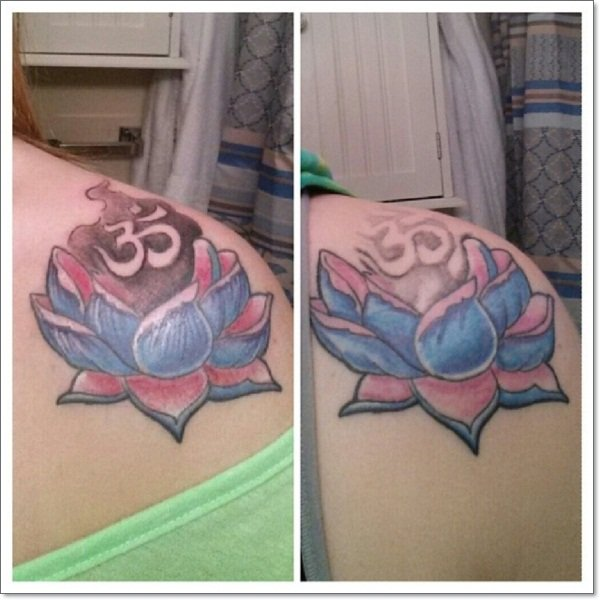 lotus flower tattoo design hindu