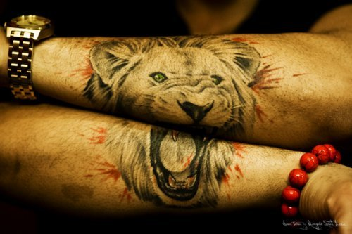 awesome-lion-tattoo-on-arm