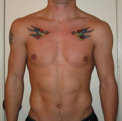 Simple Bird Tattoo For Men