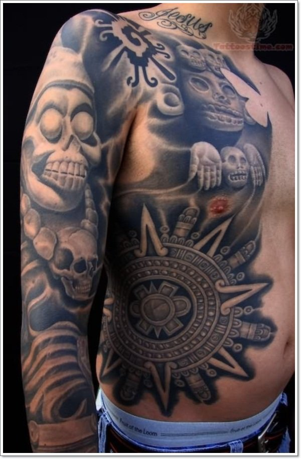 mexican-skulls-tattoos