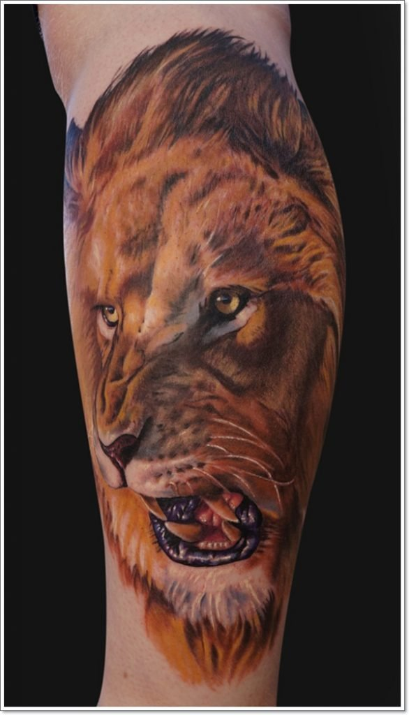 roaring-lion-tattoo-on-arm