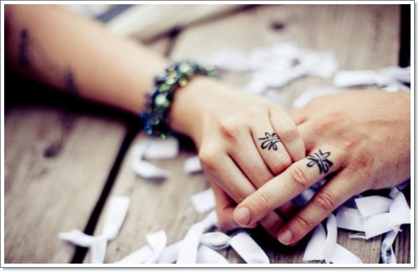 wedding ring tattoos - Wedding Ring Finger Tattoos