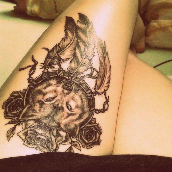 150+ Sexy Thigh Tattoos For Women (Mind Blowing PICTURES
