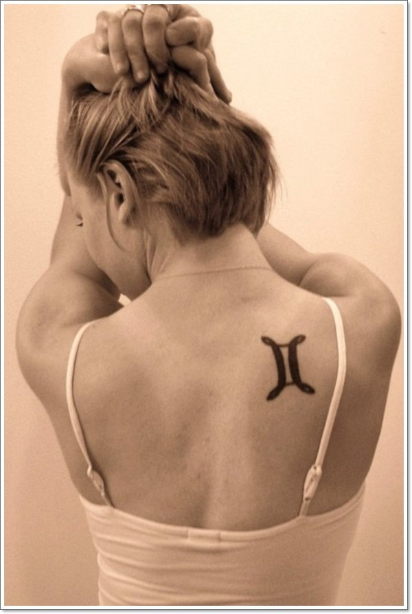 Small-Gemini-Tattoo-for-Women-on-Back
