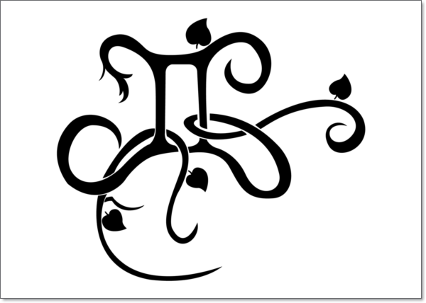 black-gemini-tattoo-design