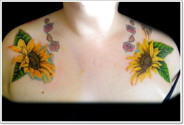 clavicle Tattoos 15