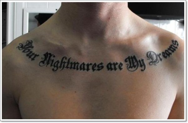 50 most wanted collar bone tattoos for Collar bone tattoos guys