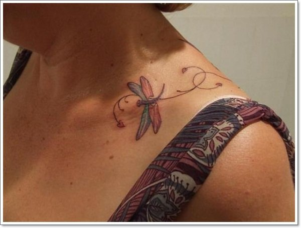 clavicle Tattoos 31