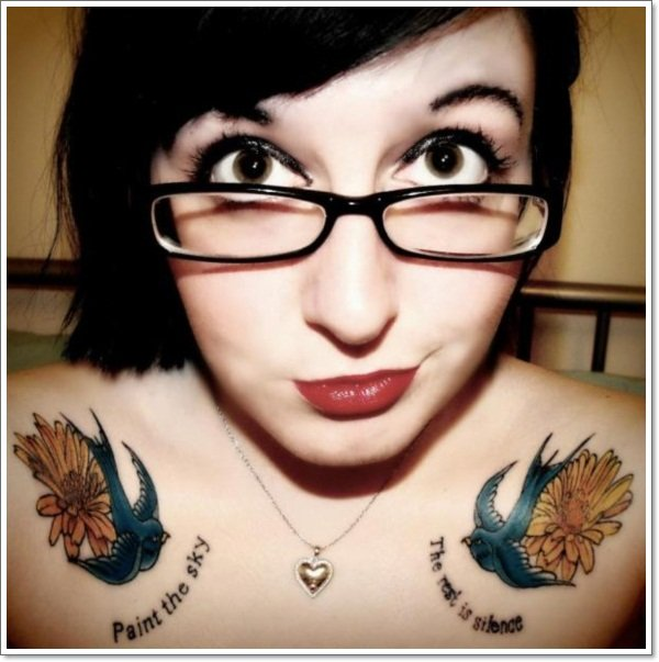clavicle Tattoos 32