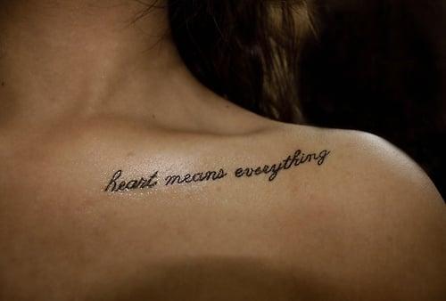 collarbone tattoos