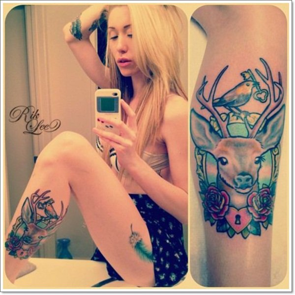 Deer Tattoos For Women