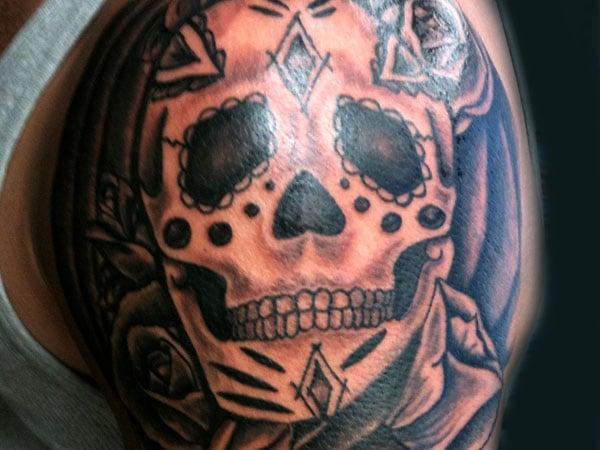 Live Free or Die Skull Tattoo