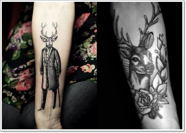 Tattoo designs, tattoo ideas - the stag gentleman, deer arm tattoo