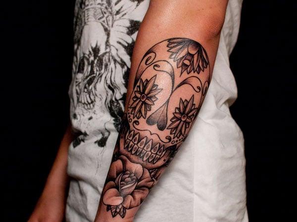 Badass Deadly Skull Tattoo Designs For Men 2015