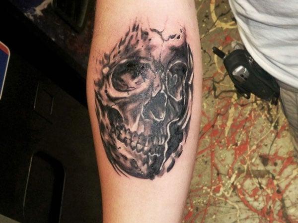 black beauty skull tattoos