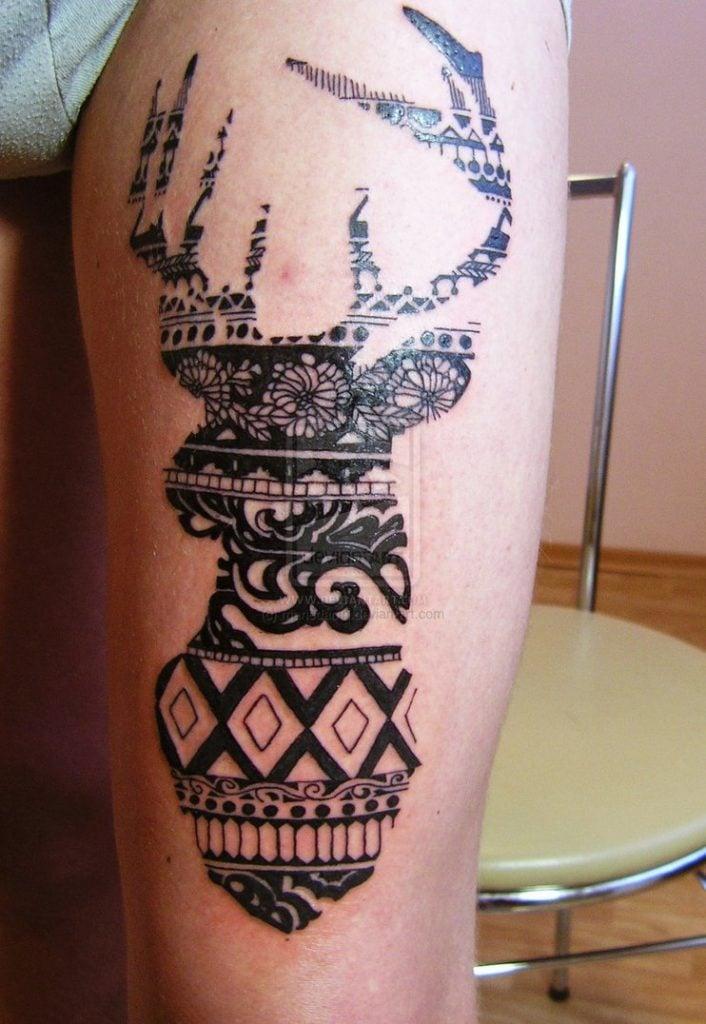 deer_tattoo_by_mariedamn-d6j2jz6