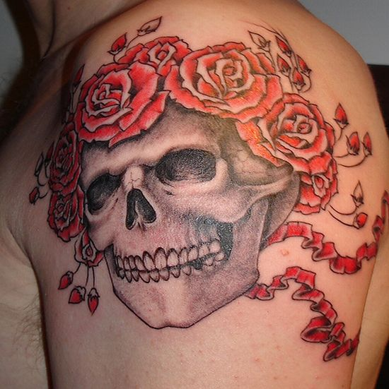 99 gnarly skull tattoos that will make you gawk. Black Bedroom Furniture Sets. Home Design Ideas