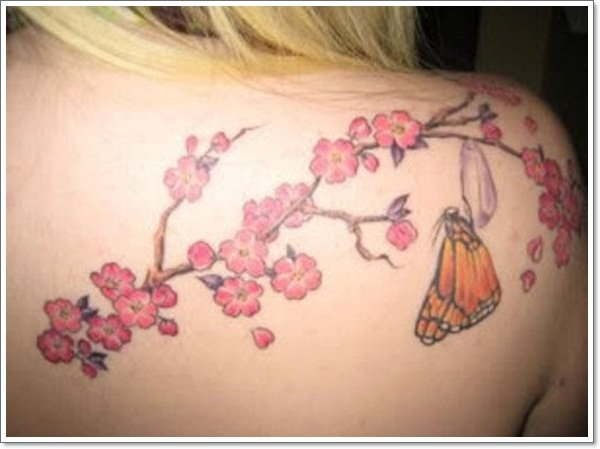 Cherry tattoos Flower tattoos-design-for-Women