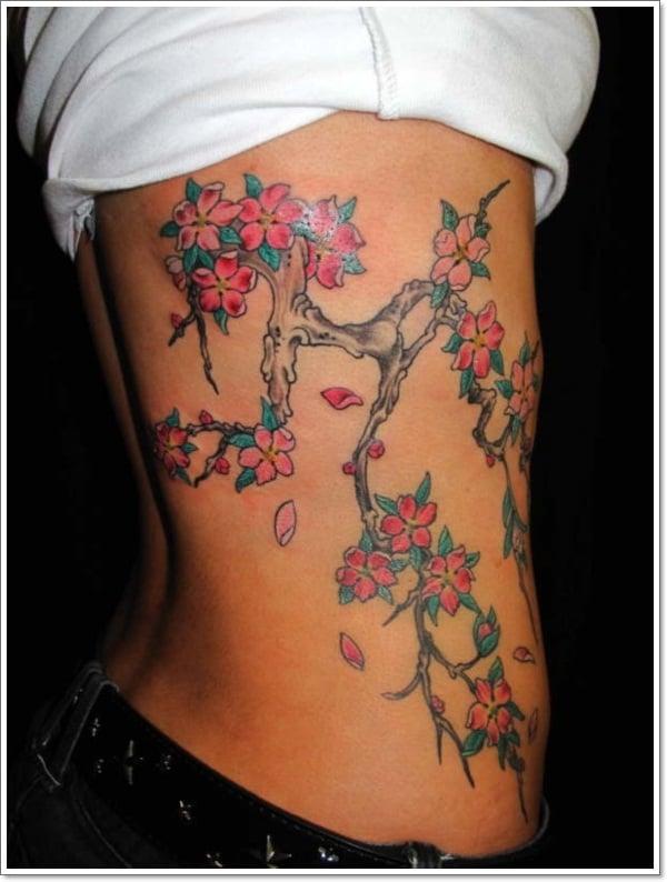 cherry flower tattoos