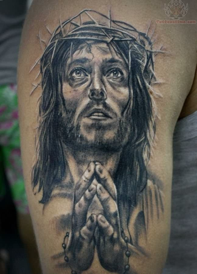 jesus-praying-hands-tattoo