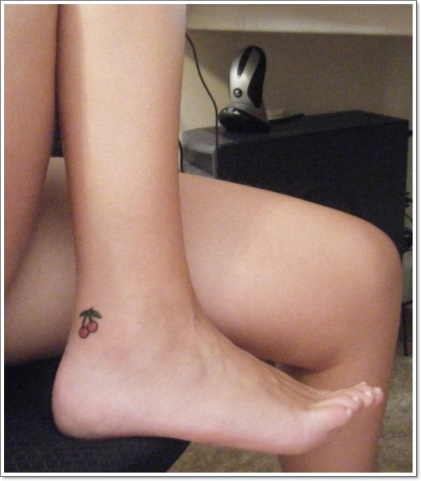 leg Cherry Tattoos