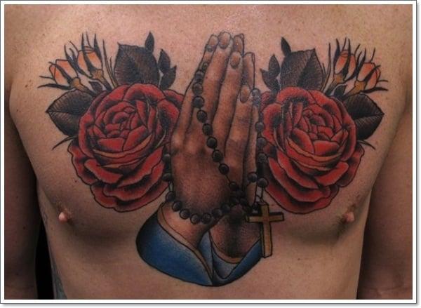 praying hand tattoos 9