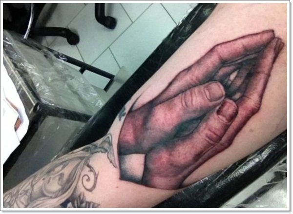 praying hand tattoos 99