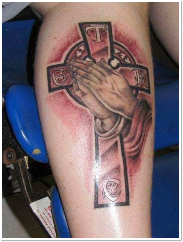 praying-hands-cross-tattoo