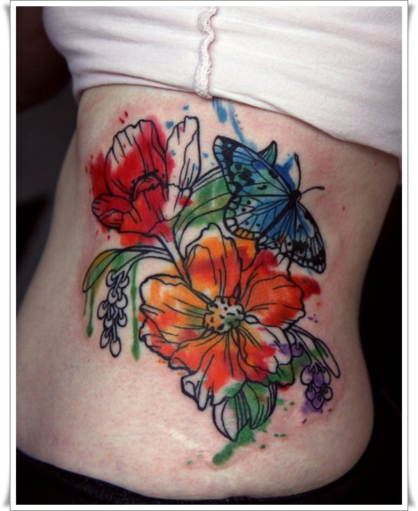 99 artistic watercolor tattoos that are living works of art. Black Bedroom Furniture Sets. Home Design Ideas