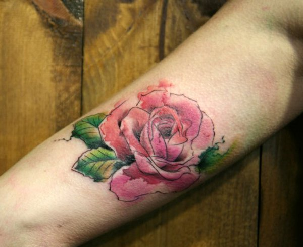 Rose-watercolor-tattoo